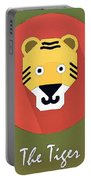 The Tiger Cute Portrait Portable Battery Charger