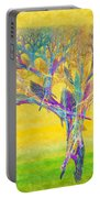 The Tree In Spring At Midday - Painterly - Abstract - Fractal Art Portable Battery Charger