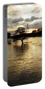 The Trent Washlands In Full Flood Portable Battery Charger
