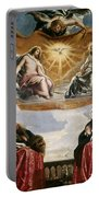 The Trinity Adored By The Duke Of Mantua And His Family Portable Battery Charger