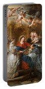 The Triptych Of Saint Ildefonso Altar Portable Battery Charger