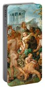 The Triumphal Procession Of Bacchus Portable Battery Charger