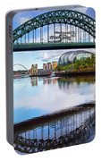 The Tyne Road Bridge With The Sage Portable Battery Charger