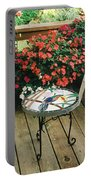 The Upper Deck With Stain Glass Table Portable Battery Charger