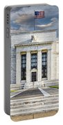 The Us Federal Reserve Board Building Portable Battery Charger by Susan Candelario