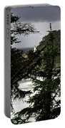 The View Of The Heceta Lighthouse Portable Battery Charger