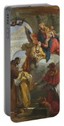 The Virgin And Child Appearing To A Group Of Saints Portable Battery Charger