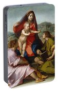 The Virgin And Child Between Saint Matthew And An Angel Portable Battery Charger