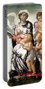 The Virgin And Child With Saint John And Angels Portable Battery Charger