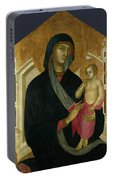 The Virgin And Child With Six Angels Portable Battery Charger