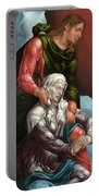 The Virgin And Saint John The Evangelist Portable Battery Charger