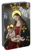 The Virgin And The Child With The Parrot Portable Battery Charger