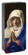 The Virgin In Prayer Portable Battery Charger