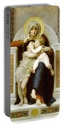 The Virgin The Baby Jesus And Saint John The Baptist Portable Battery Charger