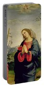 The Virgin With Saints Sebastian And John The Baptist Portable Battery Charger