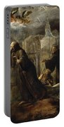 The Vision Of St Francis Of Paola Portable Battery Charger