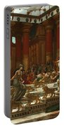 The Visit Of The Queen Of Sheba To King Solomon Portable Battery Charger