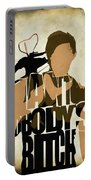 The Walking Dead Inspired Daryl Dixon Typographic Artwork Portable Battery Charger by Ayse Deniz