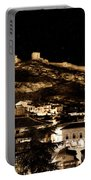 The Walls Of Albarracin In The Summer Night Spain Portable Battery Charger