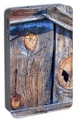 The Weathered Abstract From A Barn Door Portable Battery Charger