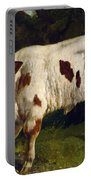 The White Calf Portable Battery Charger by Gustave  Courbet
