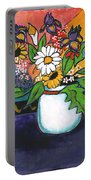 The White Daisy Portable Battery Charger