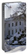 The White House In Winter Portable Battery Charger