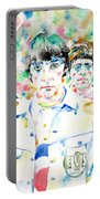 The Who - Watercolor Portrait Portable Battery Charger