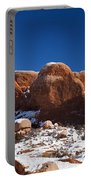 The Windows In Snow Arches National Park Utah Portable Battery Charger