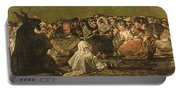 The Witches Sabbath Or The Great He-goat, One Of The Black Paintings, C.1821-23 Oil On Canvas Portable Battery Charger