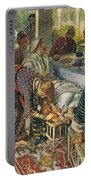 The Woman With The Box Of Ointment Portable Battery Charger by Harold Copping
