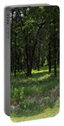 The Woods And The Road From The Series The Imprint Of Man In Nature Portable Battery Charger