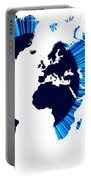 The World Map And Globe Portable Battery Charger