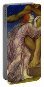 The Worship Of Mammon Portable Battery Charger by Evelyn De Morgan