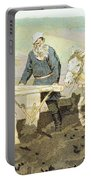 The Writer Lev Nikolaevich Tolstoy Portable Battery Charger by Ilya Efimovich Repin