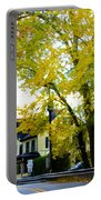 The Yardley Inn In Autumn Portable Battery Charger