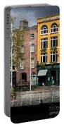 The Yellow House At The Liffey River - Dublin - Ireland Portable Battery Charger