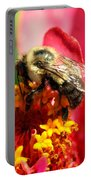 The Zinnia And The Bee Portable Battery Charger