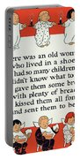 There Was An Old Women Who Lived In A Shoe Portable Battery Charger by Mother Goose