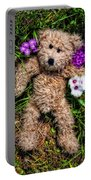 These Are For You - Cute Teddy Bear Art By William Patrick And Sharon Cummings Portable Battery Charger