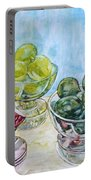 Thinking Of Cezanne Green Portable Battery Charger