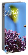 Thinking Of You - Greeting Card - Lilacs Portable Battery Charger