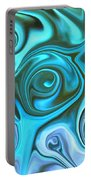 Turquoise  - Satin Swirls Portable Battery Charger