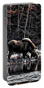 Thirsty Moose Impressionistic Digital Painting Portable Battery Charger
