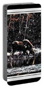 Thirsty Moose Impressionistic Painting With Borders Portable Battery Charger