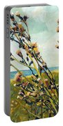 Thistles On The Beach - Oil Portable Battery Charger by Michelle Calkins