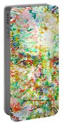 Thomas Bernhard Watercolor Portrait Portable Battery Charger