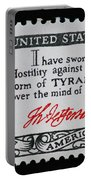 Thomas Jefferson American Credo Vintage Postage Stamp Print Portable Battery Charger