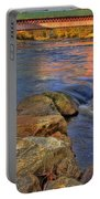 Thompson Covered Bridge Portable Battery Charger by Joann Vitali