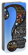 Thoughts And Words Portable Battery Charger